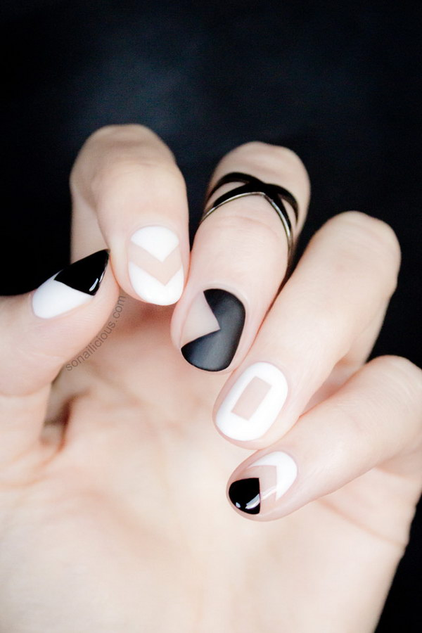 32 black and white nail designs - 80+ Black And White Nail Designs