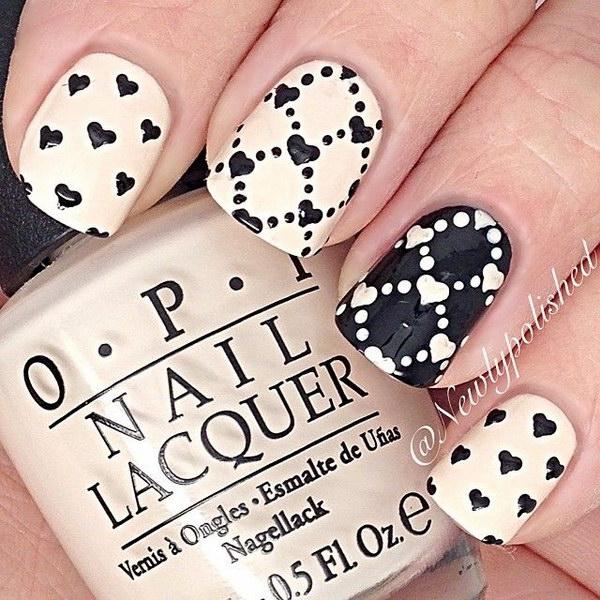 37 black and white nail designs - 80+ Black And White Nail Designs