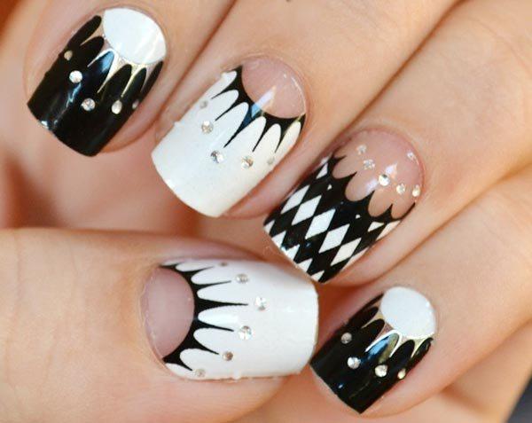 47 black and white nail designs - 80+ Black And White Nail Designs