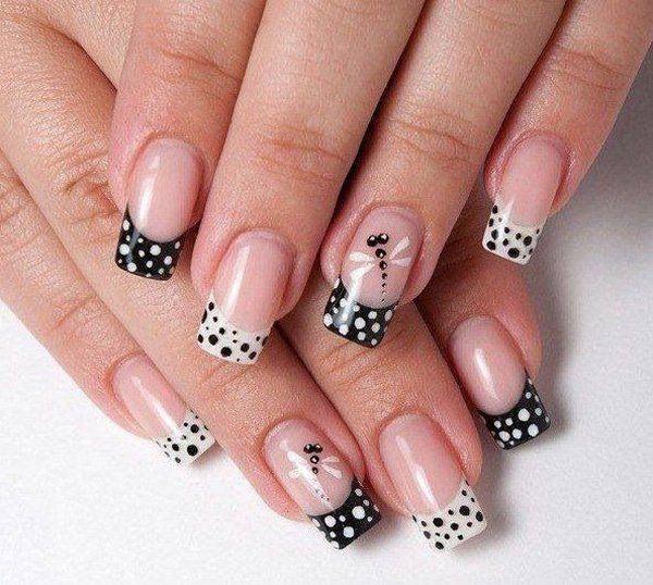59 black and white nail designs - 80+ Black And White Nail Designs