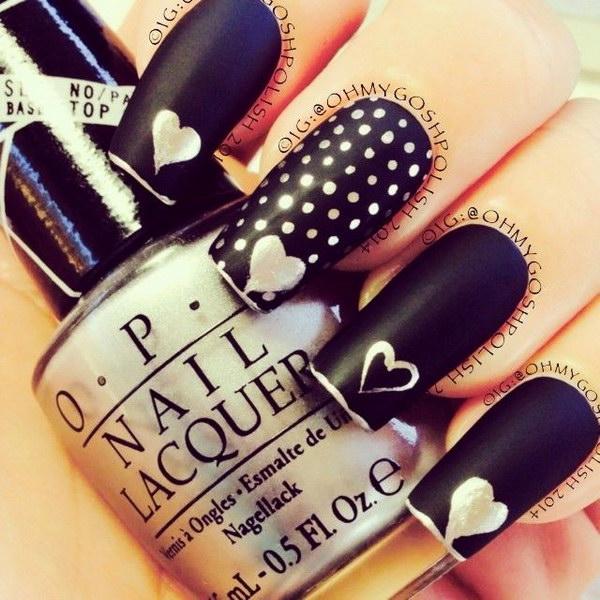 63 black and white nail designs - 80+ Black And White Nail Designs