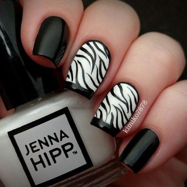 67 black and white nail designs - 80+ Black And White Nail Designs