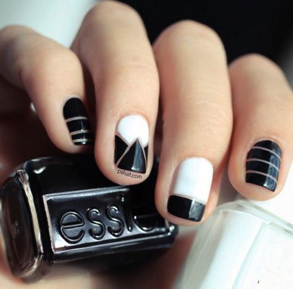 71 black and white nail designs - 80+ Black And White Nail Designs