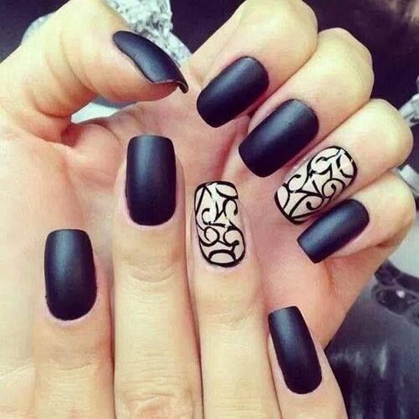 86 black and white nail designs - 80+ Black And White Nail Designs