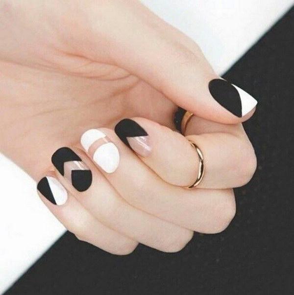 9 black and white nail designs - 80+ Black And White Nail Designs