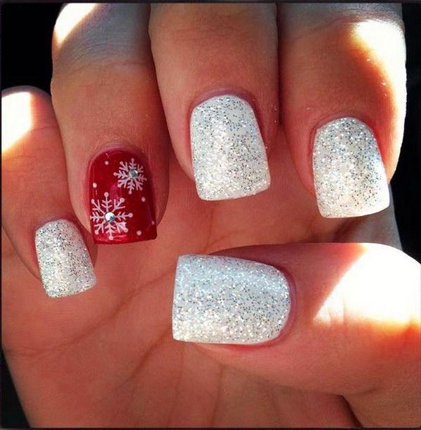 12 christmas nail art designs - 50 Festive Christmas Nail Art Designs