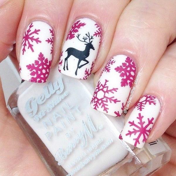 13 christmas nail art designs - 50 Festive Christmas Nail Art Designs