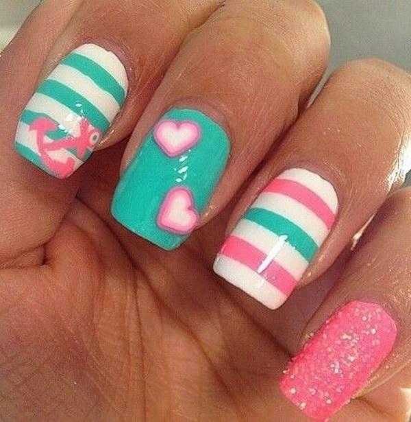 101 green nail art designs - 100+ Awesome Green Nail Art Designs