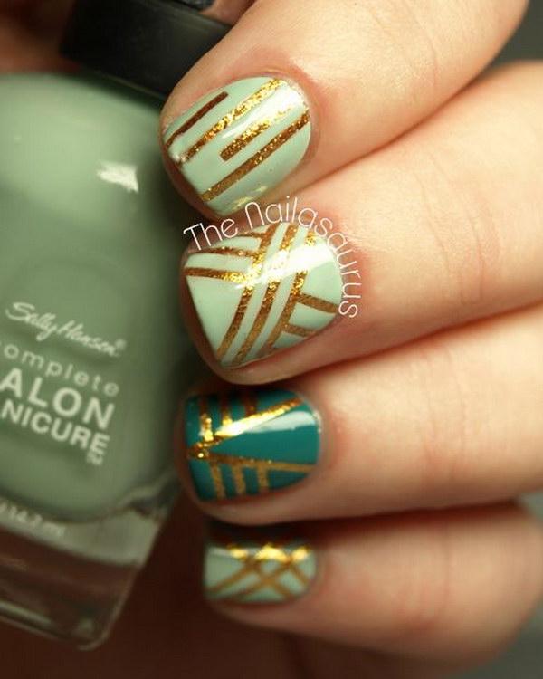 41 green nail art designs - 100+ Awesome Green Nail Art Designs