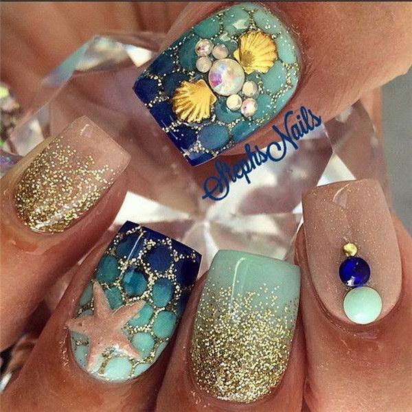 43 green nail art designs - 100+ Awesome Green Nail Art Designs