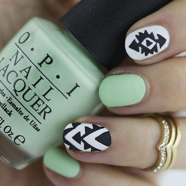 52 green nail art designs - 100+ Awesome Green Nail Art Designs
