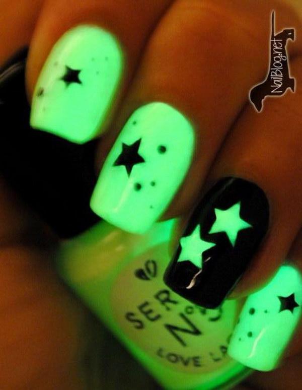 60 green nail art designs - 100+ Awesome Green Nail Art Designs
