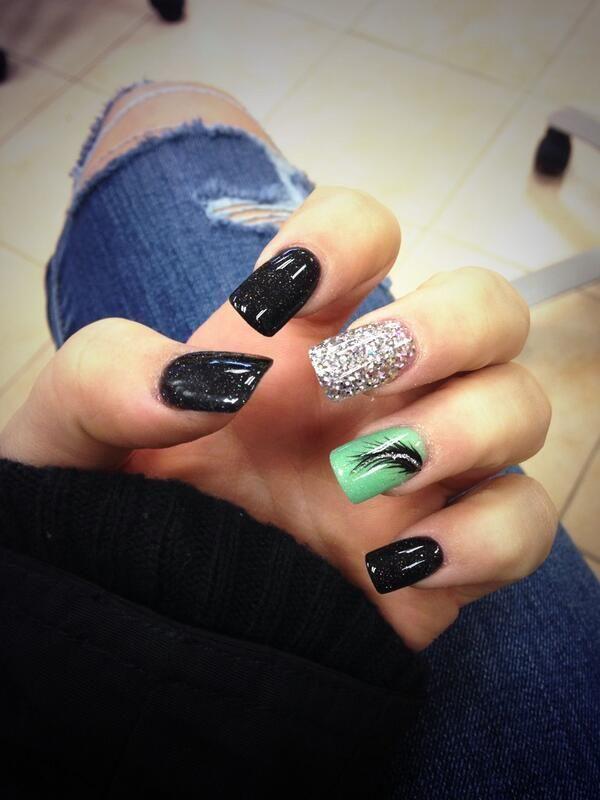 61 green nail art designs - 100+ Awesome Green Nail Art Designs