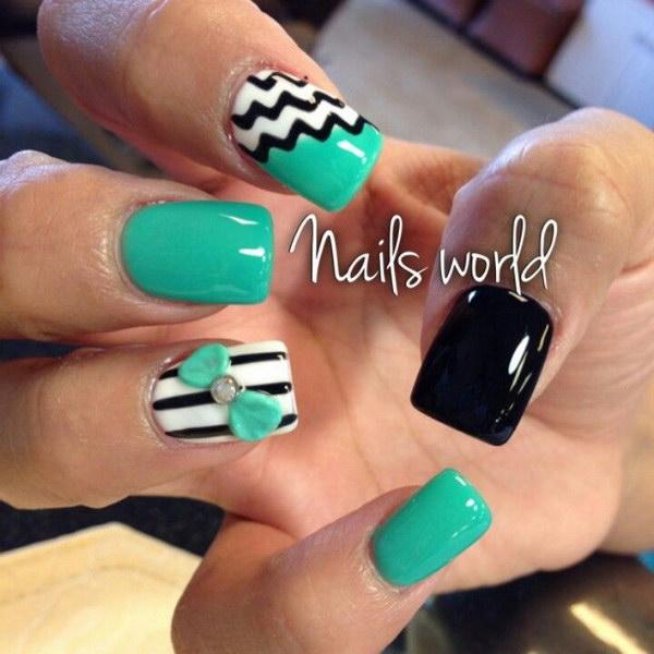 63 green nail art designs - 100+ Awesome Green Nail Art Designs