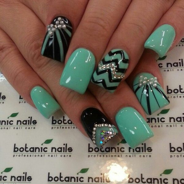 67 green nail art designs - 100+ Awesome Green Nail Art Designs