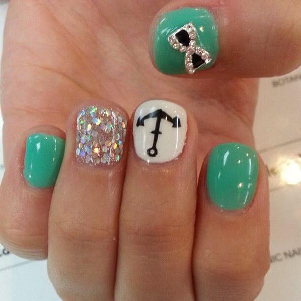 72 green nail art designs - 100+ Awesome Green Nail Art Designs