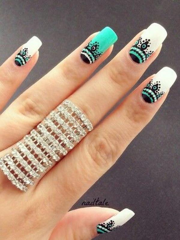 75 green nail art designs - 100+ Awesome Green Nail Art Designs