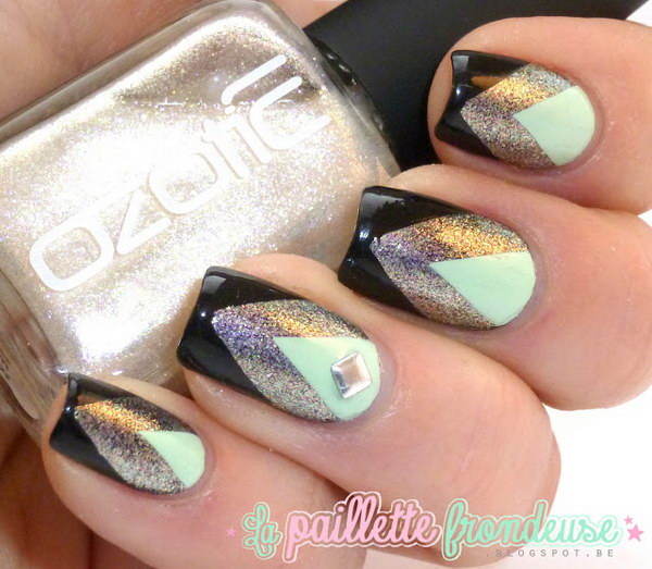 76 green nail art designs - 100+ Awesome Green Nail Art Designs