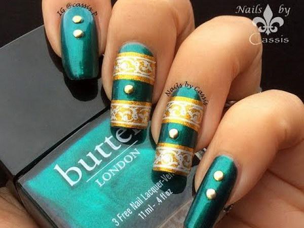 81 green nail art designs - 100+ Awesome Green Nail Art Designs
