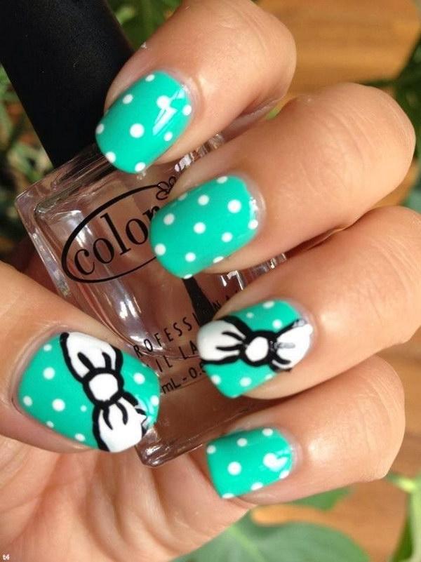 82 green nail art designs - 100+ Awesome Green Nail Art Designs