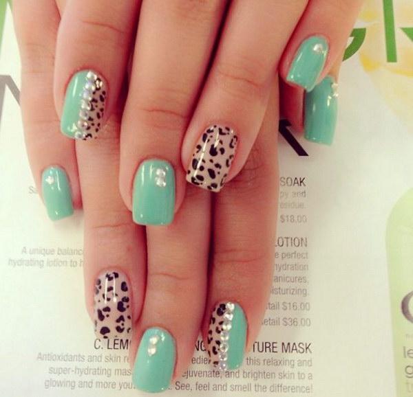 85 green nail art designs - 100+ Awesome Green Nail Art Designs
