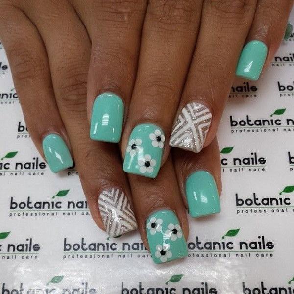 89 green nail art designs - 100+ Awesome Green Nail Art Designs