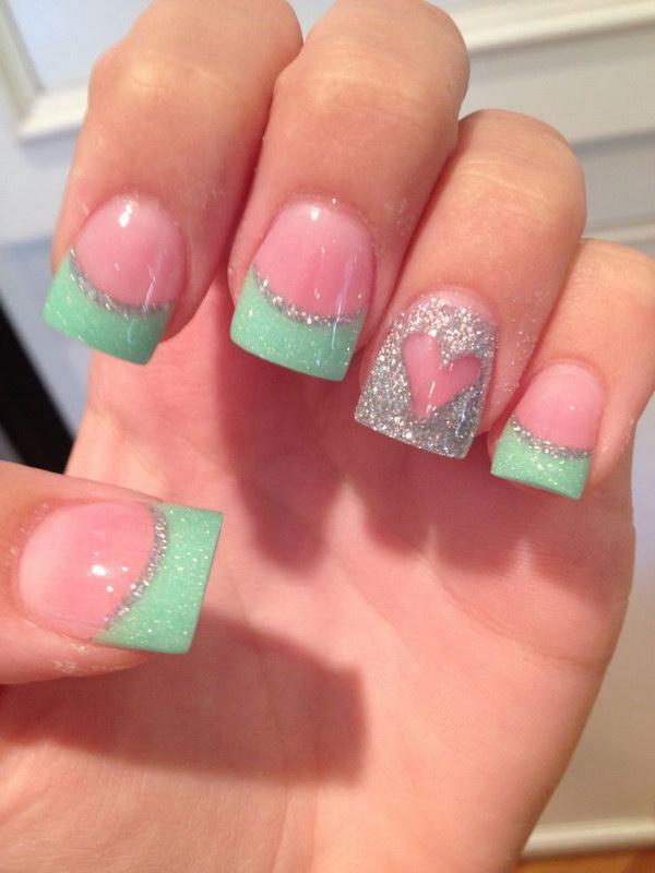 9 green nail art designs - 100+ Awesome Green Nail Art Designs