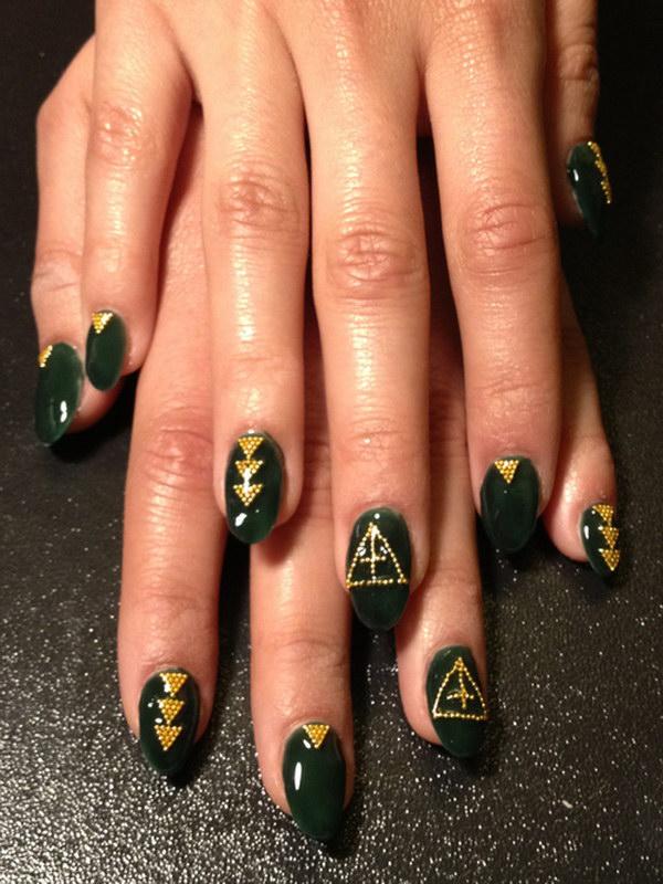 91 green nail art designs - 100+ Awesome Green Nail Art Designs