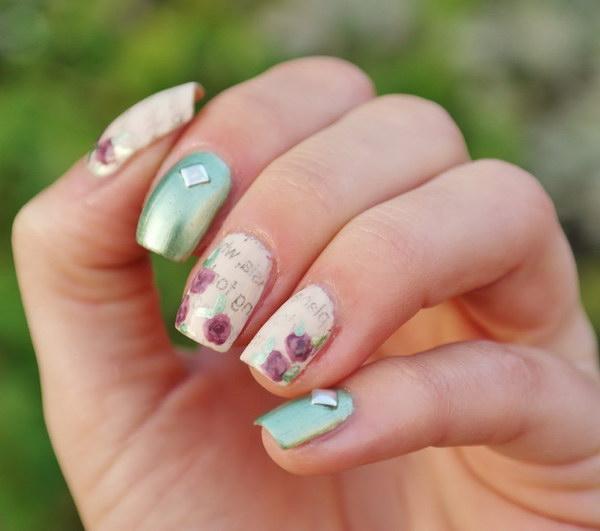95 green nail art designs - 100+ Awesome Green Nail Art Designs