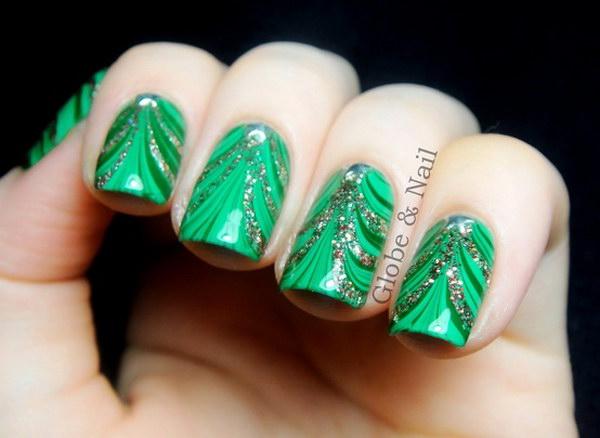 97 green nail art designs - 100+ Awesome Green Nail Art Designs