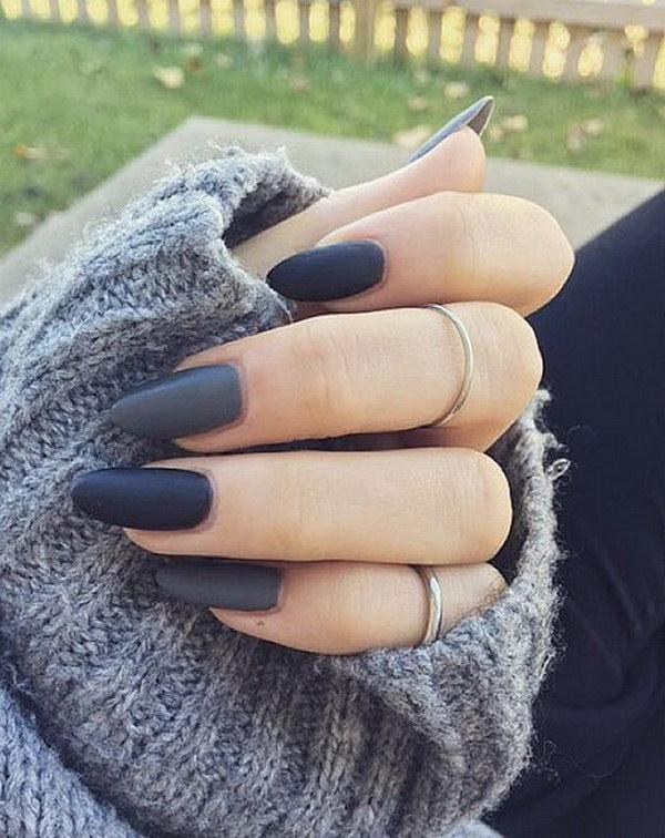 2 matte nail designs - 60 Pretty Matte Nail Designs