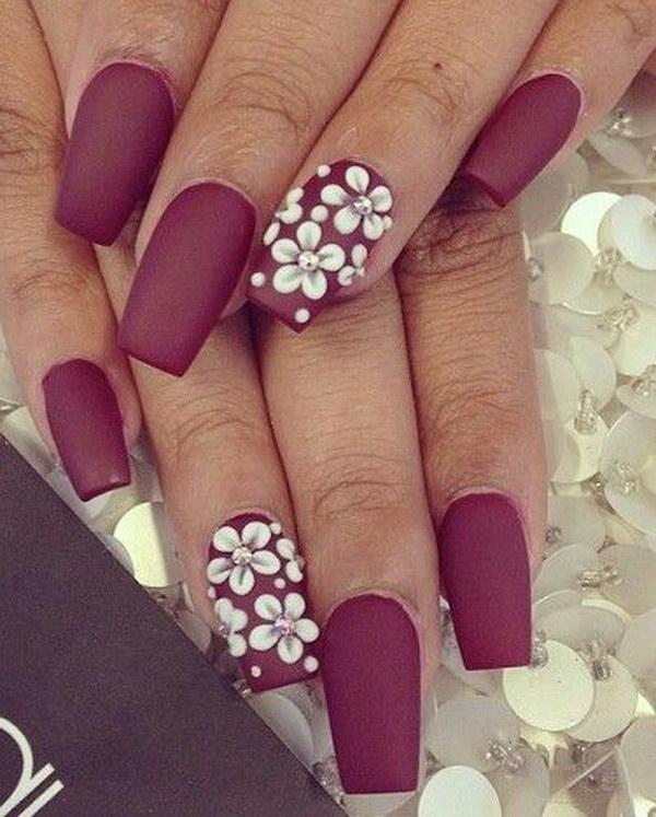 24 matte nail designs - 60 Pretty Matte Nail Designs