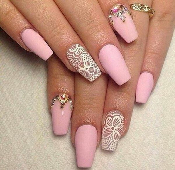 32 matte nail designs - 60 Pretty Matte Nail Designs