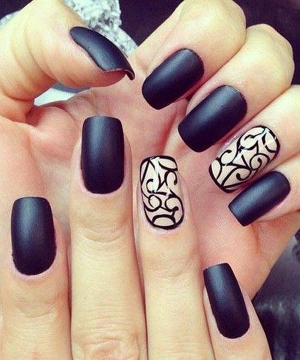 47 matte nail designs - 60 Pretty Matte Nail Designs