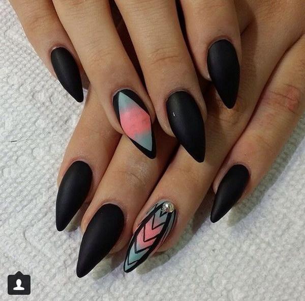 49 matte nail designs - 60 Pretty Matte Nail Designs