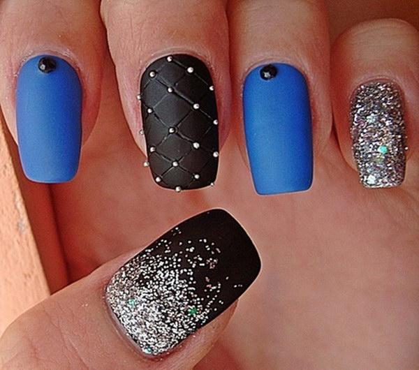 53 matte nail designs - 60 Pretty Matte Nail Designs