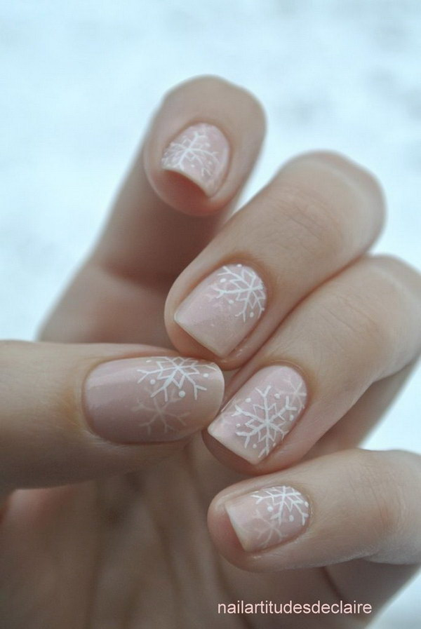 20 pink and white nail art designs - 50 Lovely Pink and White Nail Art Designs
