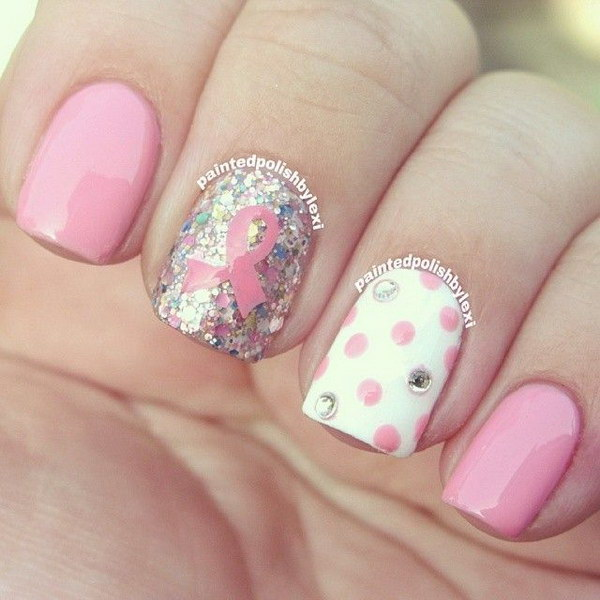 39 pink and white nail art designs - 50 Lovely Pink and White Nail Art Designs
