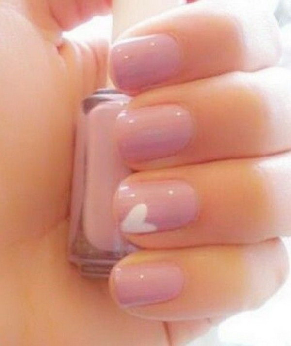 4 pink and white nail art designs - 50 Lovely Pink and White Nail Art Designs