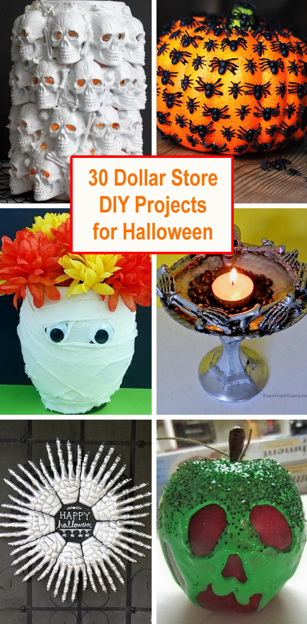 dollar store crafts for halloween - 30 Dollar Store DIY Projects for Halloween