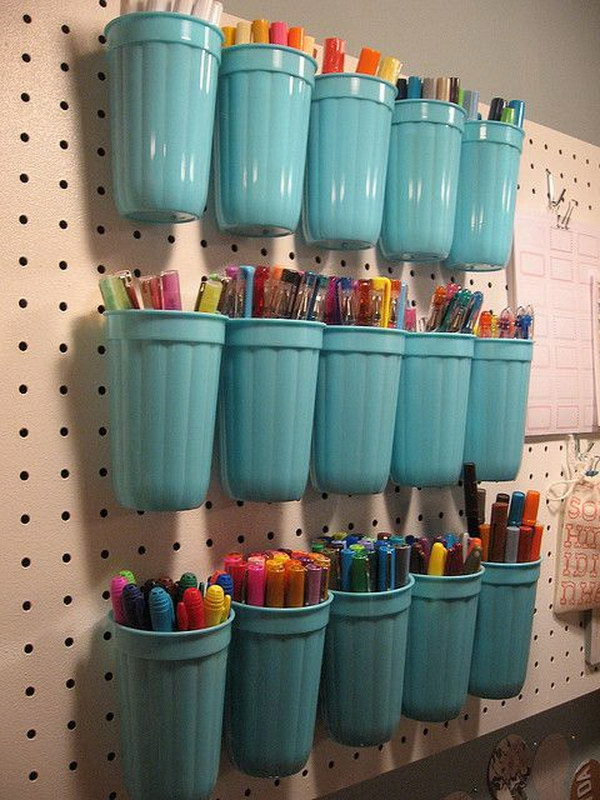 25 dollar store organizing ideas - Cool Dollar Store Organizing & Storage Ideas