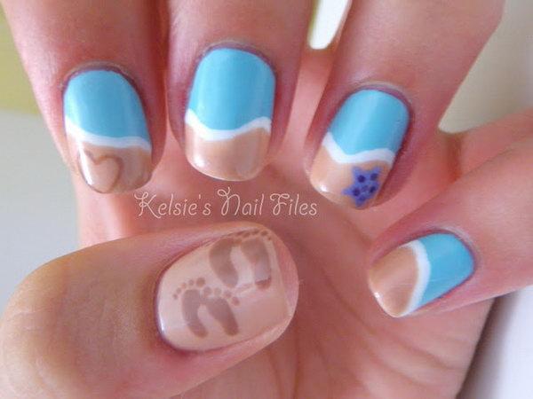 21 beach nail art - 30+ Beach Themed Nail Art Designs