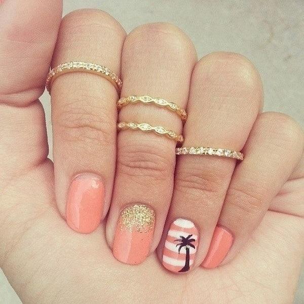 4 beach nail art - 30+ Beach Themed Nail Art Designs