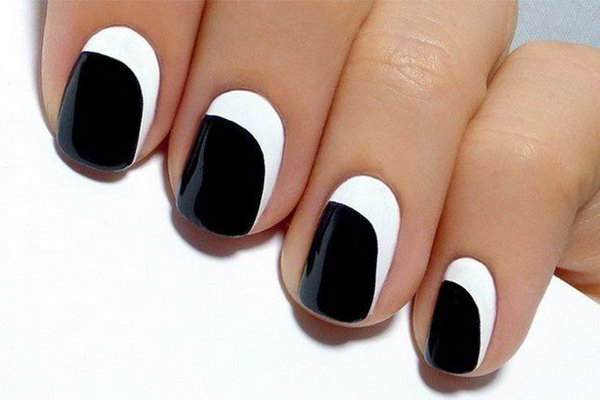 13 black and white nail art - Black and White Nail Art Designs – Perfect Match For Any Parties