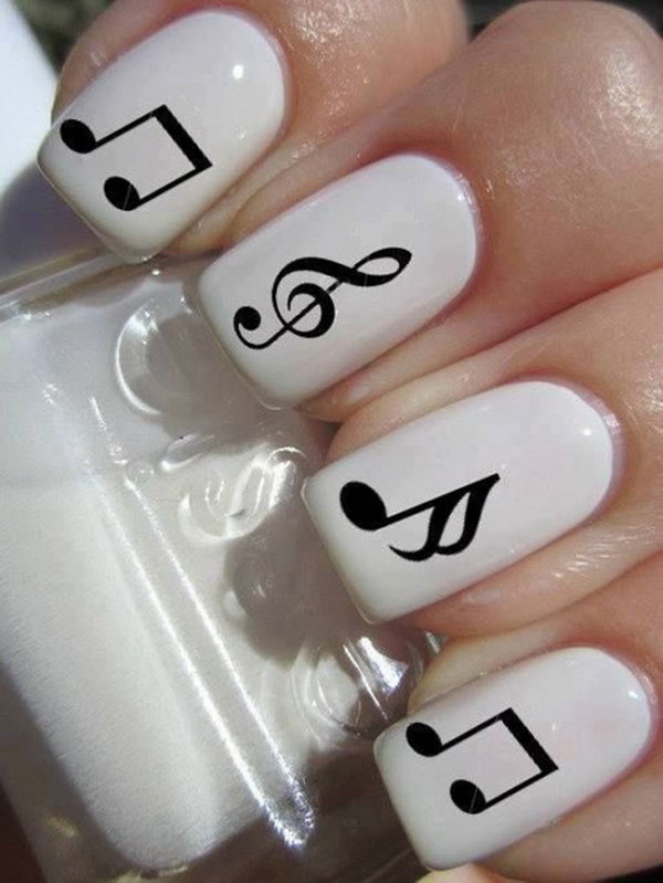 27 black and white nail art - Black and White Nail Art Designs – Perfect Match For Any Parties