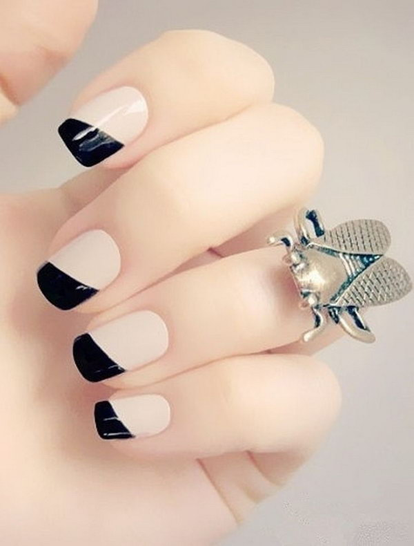 5 black and white nail art - Black and White Nail Art Designs – Perfect Match For Any Parties