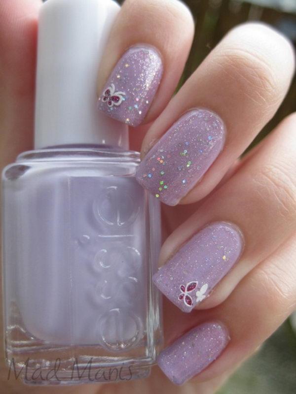 1 30 butterfly nail art designs - 30+ Pretty Butterfly Nail Art Designs