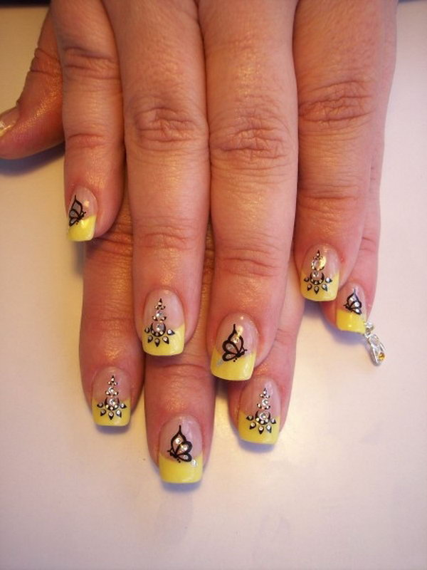 14 butterfly nail art designs - 30+ Pretty Butterfly Nail Art Designs
