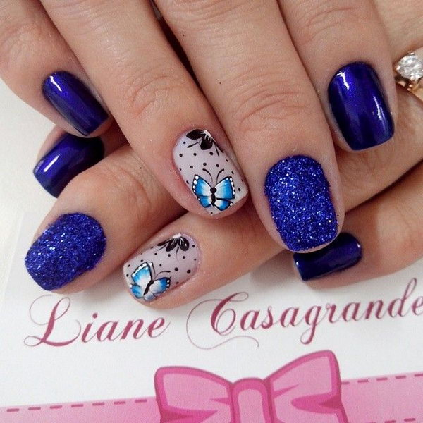 15 butterfly nail art designs - 30+ Pretty Butterfly Nail Art Designs