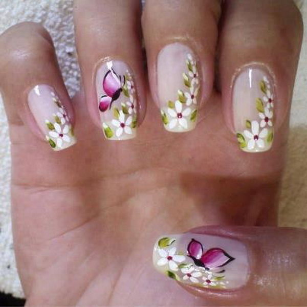 17 butterfly nail art designs - 30+ Pretty Butterfly Nail Art Designs